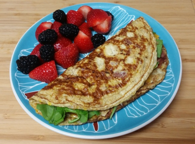 omelet-and-fruit